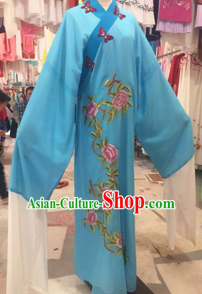 Chinese Traditional Beijing Opera Niche Embroidered Peony Robe Peking Opera Young Men Costume for Adults