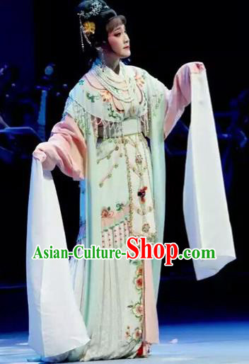Traditional Chinese Peking Opera Diva Costume Beijing Opera Romance of the West Chamber Embroidered Dress for Adults