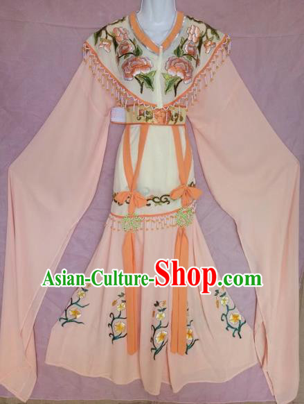 Traditional Chinese Peking Opera Diva Costume Beijing Opera Princess Pink Dress for Adults