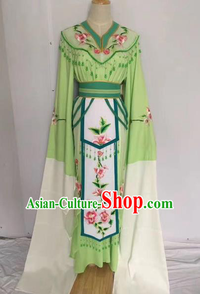 Traditional Chinese Peking Opera Princess Fairy Green Dress Beijing Opera Diva Costume for Adults