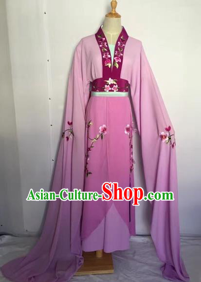 Chinese Peking Opera Fairy Purple Dress Traditional Beijing Opera Diva Costume for Adults