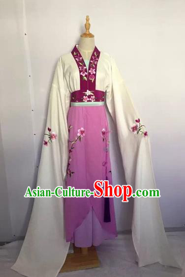 Chinese Huangmei Opera Fairy Purple Dress Traditional Beijing Opera Diva Costume for Adults