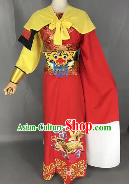 Chinese Beijing Opera General Red Clothing Traditional Peking Opera Prince Costume for Adults