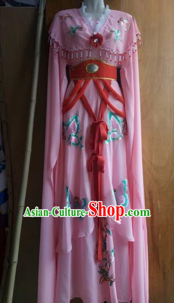 Chinese Beijing Opera Nobility Lady Dress Ancient Princess Pink Costume for Adults
