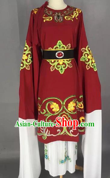Chinese Beijing Opera Pantaloon Red Clothing Ancient Old Woman Costume for Adults