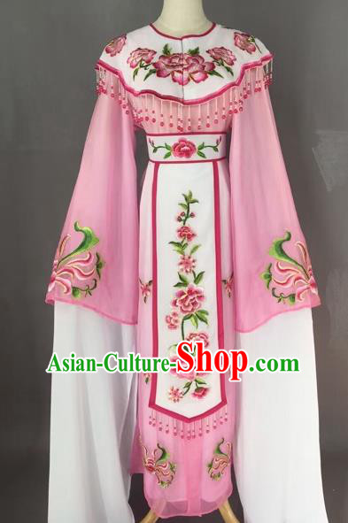 Chinese Beijing Opera Diva Pink Dress Clothing Ancient Princess Costume for Adults