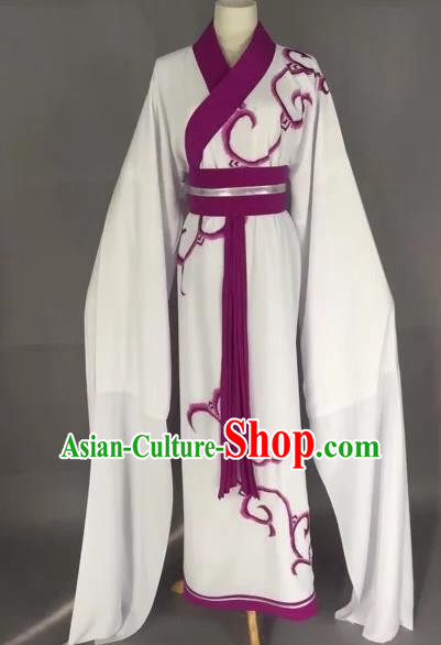 Chinese Beijing Opera Actress Purple Clothing Ancient Palace Lady Costume for Adults