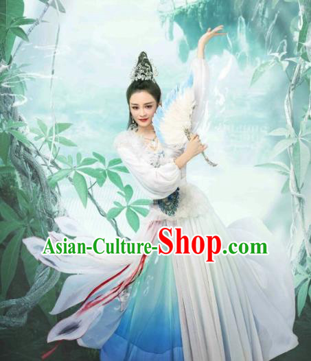 Chinese Ancient Peri Clothing Drama The Honey Sank Like Frost Princess Costume for Women