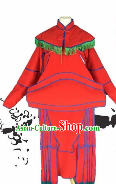 Chinese Beijing Opera General Red Clothing Traditional Peking Opera Takefu Costumes for Adults