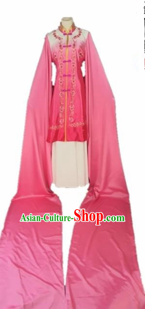 Chinese Traditional Beijing Opera Actress Pink Water Sleeve Dress Ancient Princess Costume for Adults
