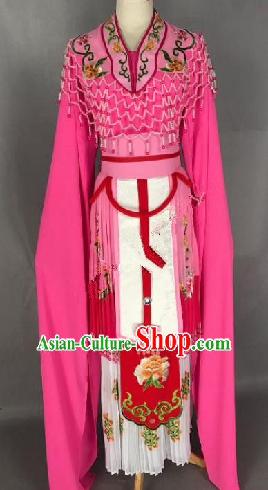 Chinese Ancient Palace Princess Rosy Costume Traditional Beijing Opera Diva Dress for Adults