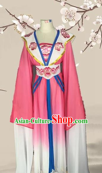Chinese Ancient Palace Princess Rosy Dress Traditional Beijing Opera Diva Costume for Adults