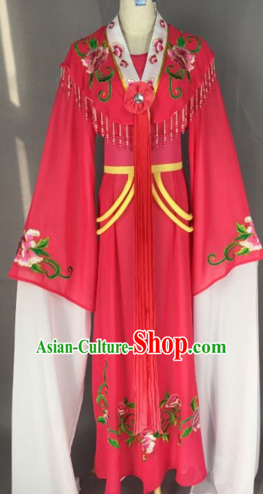 Chinese Ancient Palace Princess Rosy Dress Traditional Beijing Opera Actress Costume for Adults