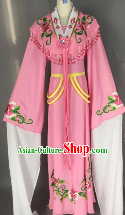Chinese Ancient Palace Princess Pink Dress Traditional Beijing Opera Actress Costume for Adults