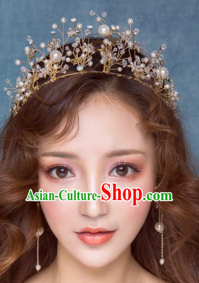 Top Grade Wedding Hair Accessories Bride Stars Royal Crown Headwear for Women