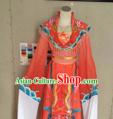 Chinese Ancient Imperial Consort Red Hanfu Dress Traditional Beijing Opera Actress Costume for Adults