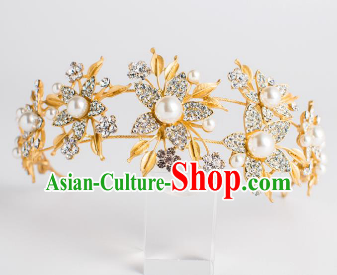 Top Grade Bride Hair Accessories Princess Hair Clasp Royal Crown Headwear for Women