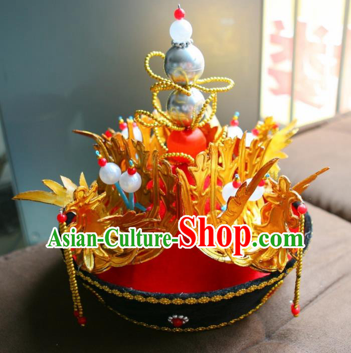 Chinese Ancient Qing Dynasty Queen Hat Phoenix Coronet Traditional Peking Opera Diva Headwear for Adults