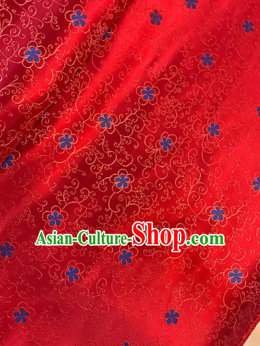 Asian Chinese Traditional Pattern Red Brocade Fabric Silk Fabric Chinese Fabric Material