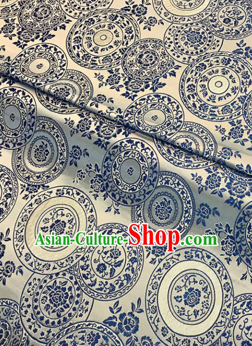 Asian Chinese Traditional Cheongsam Peony Pattern Golden Brocade Fabric Silk Fabric Chinese Fabric Material