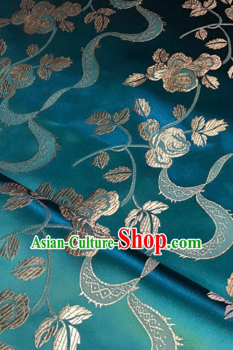 Green Brocade Asian Chinese Traditional Palace Pattern Fabric Silk Fabric Chinese Fabric Material