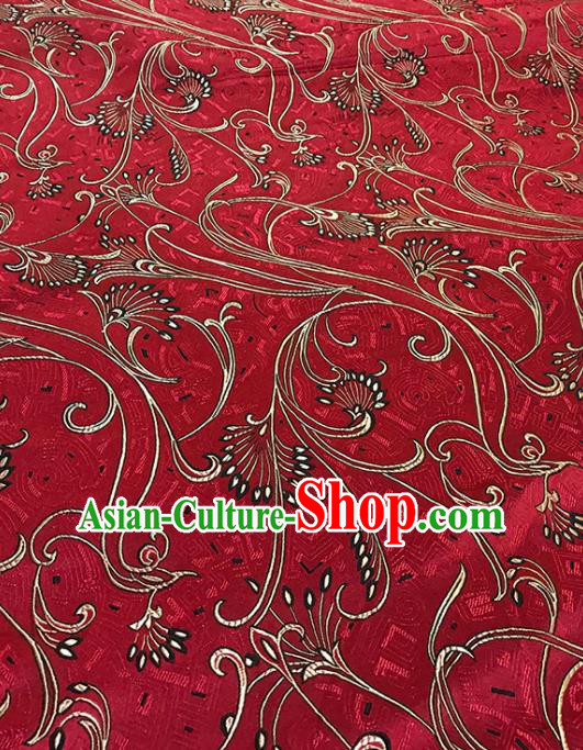 Red Brocade Asian Chinese Traditional Fabric Silk Fabric Chinese Fabric Material