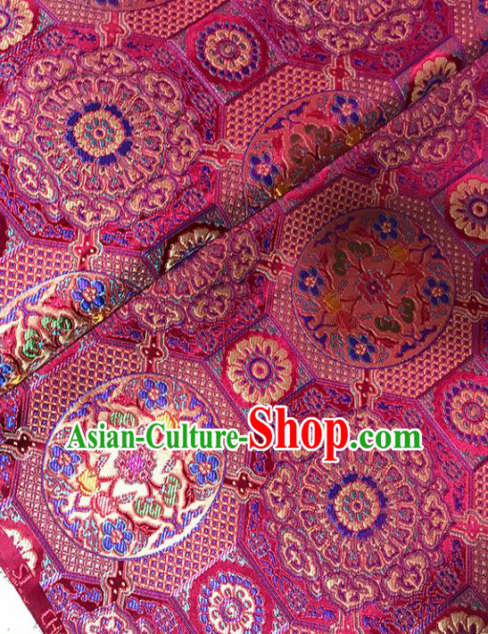 Asian Chinese Traditional Royal Pattern Pink Brocade Fabric Silk Fabric Chinese Fabric Material