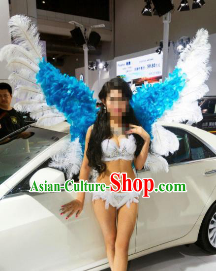 Stage Performance Brazilian Carnival Feather Butterfly Wings Miami Feathers Deluxe Wings for Women