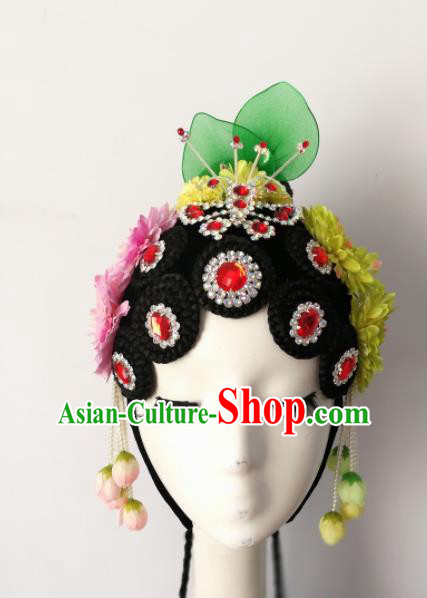 Chinese Traditional Folk Dance Beijing Opera Hair Accessories Classical Dance Headwear for Women