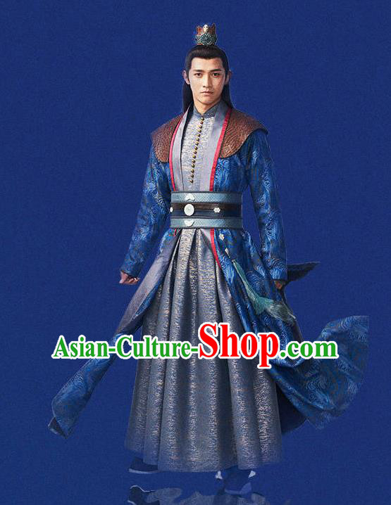 Chinese Ancient Kawaler Swordsman Costumes for Men
