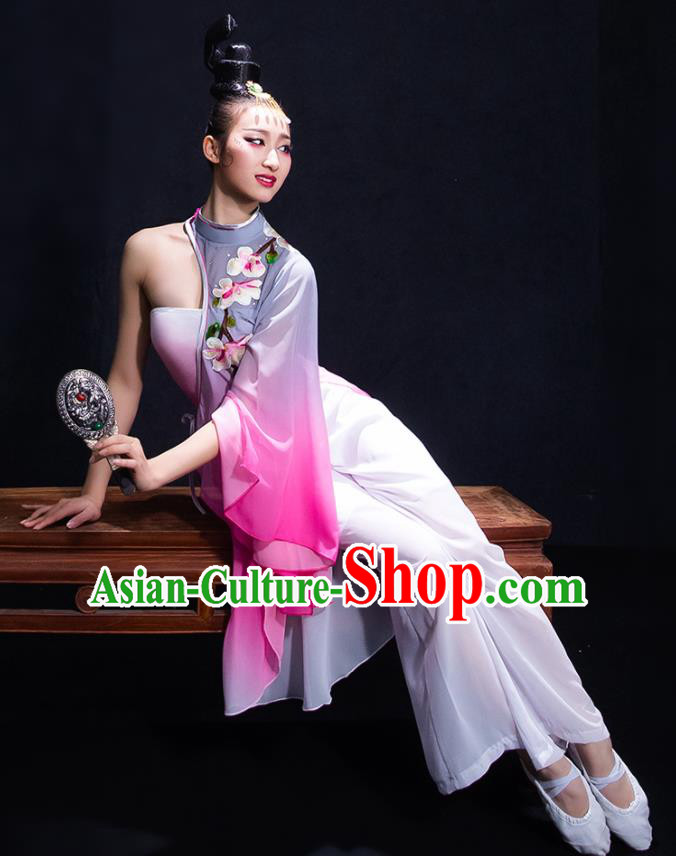 Chinese Traditional Yangko Dance Umbrella Dance Clothing Classical Dance Costume for Women