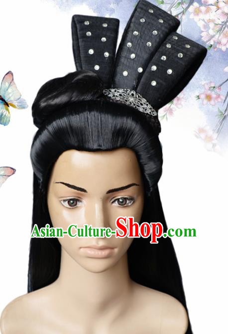 Chinese Traditional Wigs and Hair Accessories Ancient Wig Sheath for Women