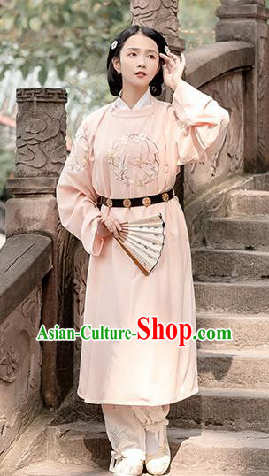 Chinese Traditional Costume Swordswoman Embroidered Robe for Women