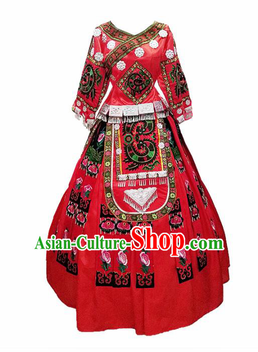 Chinese Traditional Miao Nationality Wedding Costumes for Women
