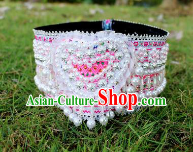 Chinese Traditional Miao Nationality Hair Accessories Hmong Hat for Women