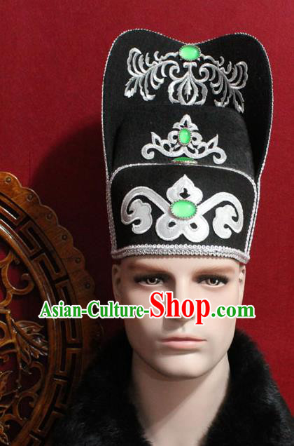 Chinese Traditional Royal Highness Hats Ancient Tang Dynasty Chancellor Hat for Men