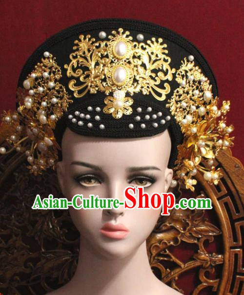 Chinese Ancient Qing Dynasty Empress Hair Accessories Phoenix Coronet Hairpins for Women