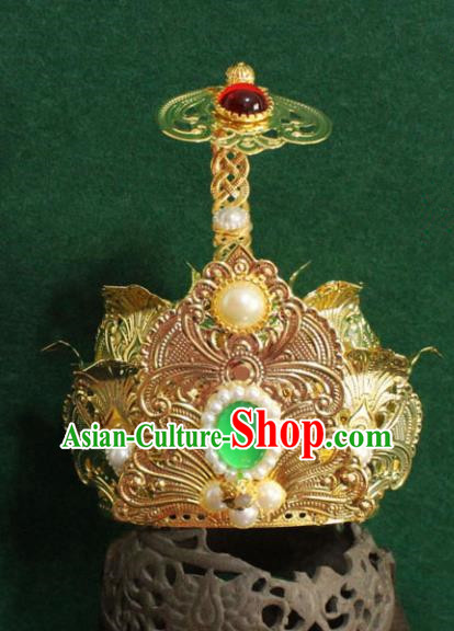 Chinese Traditional Tang Dynasty Swordsman Hairdo Crown Ancient Prince Hair Accessories for Men