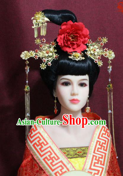Chinese Handmade Phoenix Hairpins Ancient Imperial Consort Hair Accessories for Women