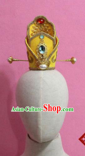 Chinese Traditional Tang Dynasty Prince Hairdo Crown Ancient Emperor Hair Accessories for Men