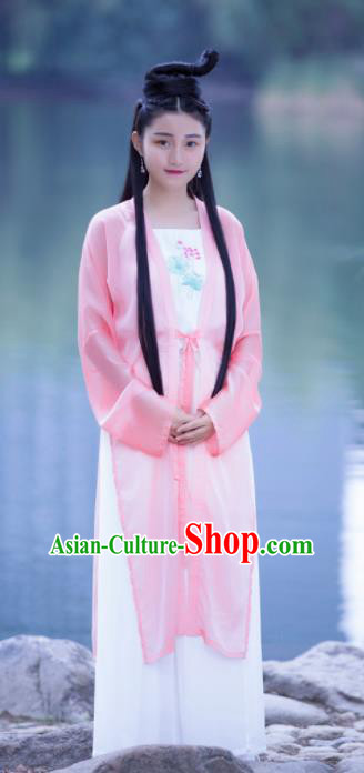 Chinese Ancient Swordswoman Hanfu Dress Song Dynasty Nobility Lady Embroidered Costumes for Women