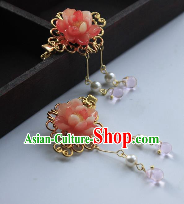 Chinese Ancient Hair Accessories Flowers Hair Claws Hanfu Handmade Hairpins for Women