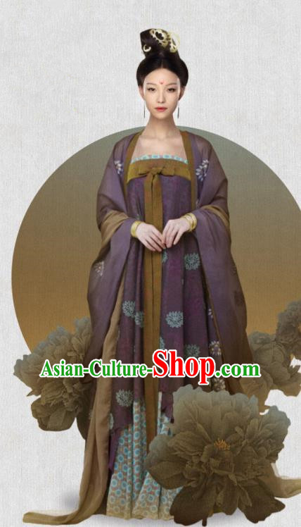 Ancient Chinese Tang Dynasty Drama The Rise of Phoenixes Empress Costumes and Headpiece for Women
