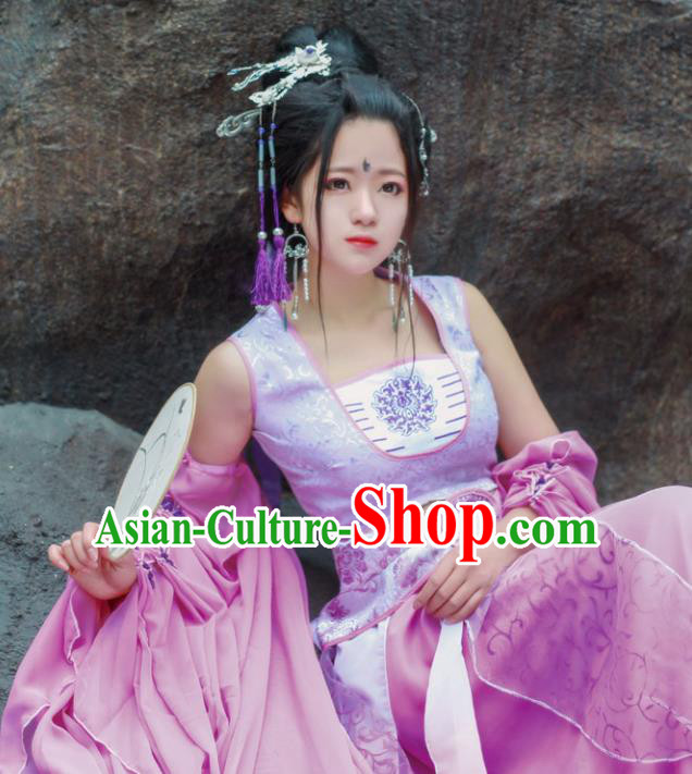 Chinese Ancient Cosplay Fairy Costumes Traditional Dancer Hanfu Dress for Women