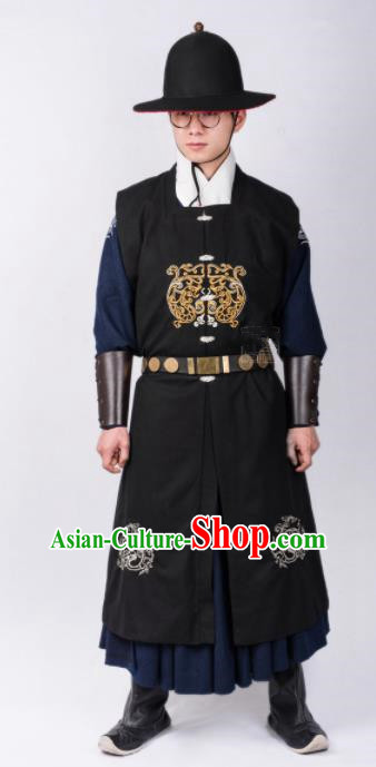 Chinese Ancient Swordsman Traditional Ming Dynasty Imperial Bodyguard Costumes for Men