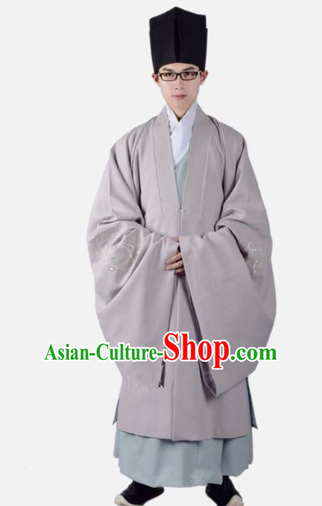 Chinese Ancient Taoist Clothing Traditional Han Dynasty Minister Costume for Men