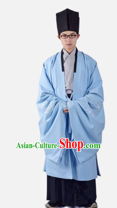 Chinese Ancient Traditional Ming Dynasty Minister Costumes Complete Set for Men