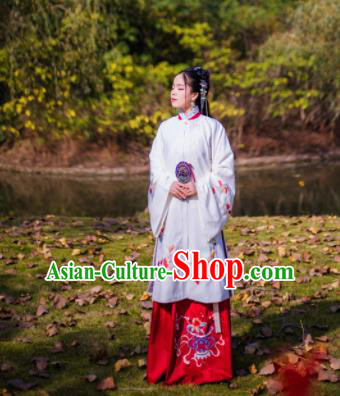 Chinese Ancient Nobility Lady Hanfu Dress Traditional Ming Dynasty Costume for Rich Women