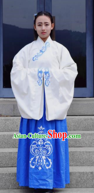 Traditional Chinese Han Dynasty Costume Ancient Princess Embroidered Hanfu Dress for Women