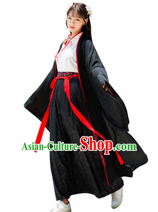 Chinese Ancient Han Dynasty Nobility Lady Embroidered Costume for Rich Women